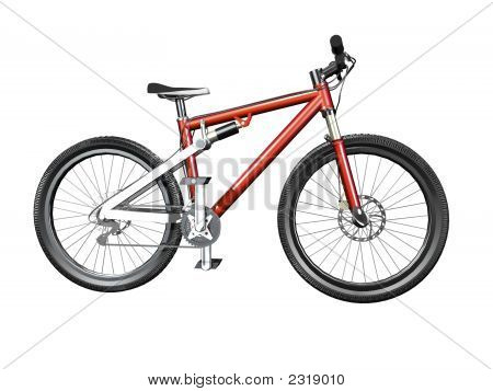 3D Isolated Mountain Bike