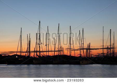 Marina At The Sunset