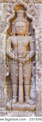 Design Of Graven Image On Pillar