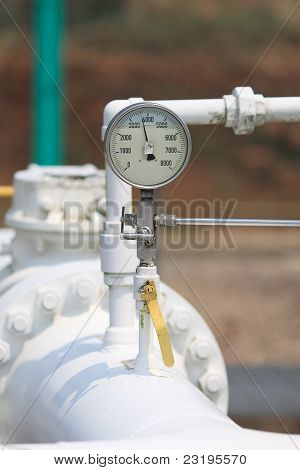 Pressure Gauge On Site.