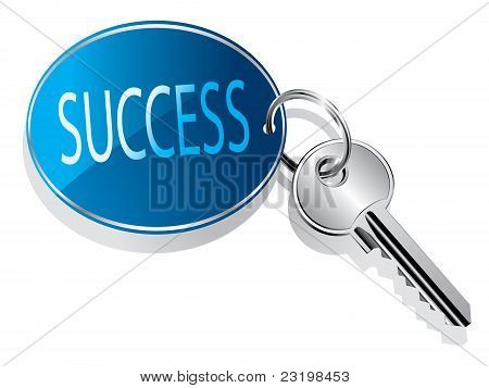 Key to success concept vector