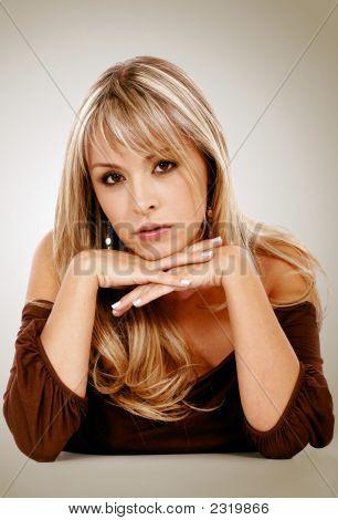 Blonde Fashion Woman Portrait