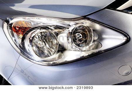 Car Head Lights In Silver