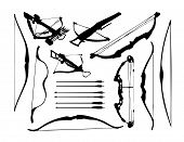 stock photo of bow arrow  - weapon collection - JPG