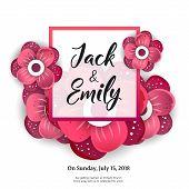 Wedding Invitation, Floral Invite Card Design Wedding Invite Flyer. Wedding Invite Poster. poster