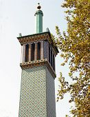 stock photo of tehran  - Square minaret at the Golestan Palace  - JPG