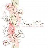 picture of swirly  - Retro floral seamless background - JPG
