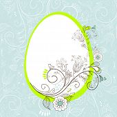 stock photo of pasqua  - Easter egg with floral elements - JPG
