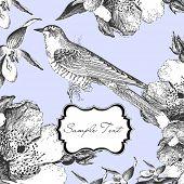 Постер, плакат: Гламурные карты с птицей