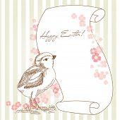 Постер, плакат: Пасхальный праздник иллюстрация с куриных и пространства для вашего текста