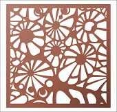 Vector Template Laser Cut Panel. Openwork Pattern For Decorative Panel. Wall Panels Or Partition. Ji poster