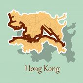 Stickers In Form Of Hongkong Travel, Area, Art poster