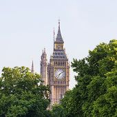 Big Ben, Clock Tower Of The Palace Of Westminster, London, United Kingdom, England. The Tower Is Off poster