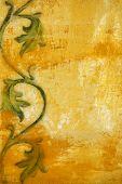 Постер, плакат: Искусство гранж цветочный узор фона
