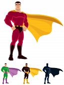 foto of superman  - Superhero over white background - JPG