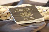 Passport On Briefcase