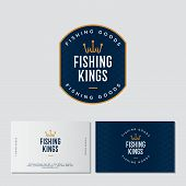 Fishing Logo. Fishing Or Fishing Equipment Store Logo. Fisher Club Emblem. Fishing Sport Club. Hooks poster