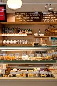 Bakery. Bakehouse counter