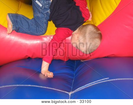 Kid On Bouncy Castle