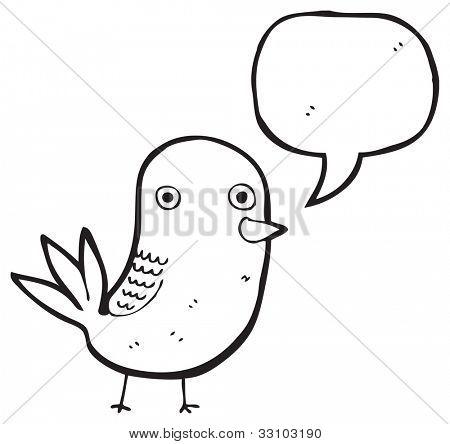 funny bird cartoon