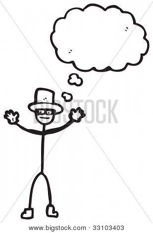 cartoon stick man villain