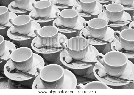 Cups, Saucers And Spoons