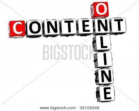 3D Online Content Crossword