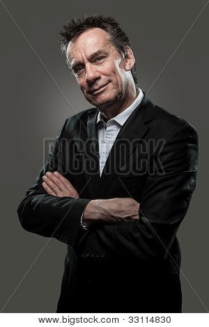 Handsome Smiling Business Man High Contrast Look