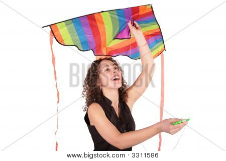Young Woman With Kite