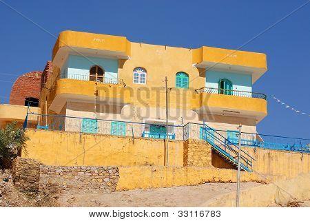 A Nubian house, Egypt, Aswan region, Egypt
