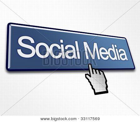 Large Blue Social Media Button