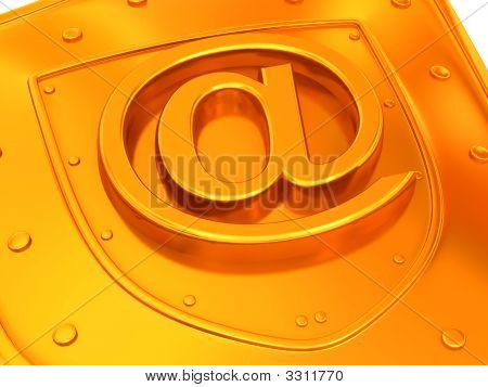 Shield With Symbol For Internet