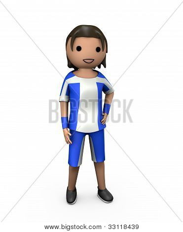 3D Young Male Football Player