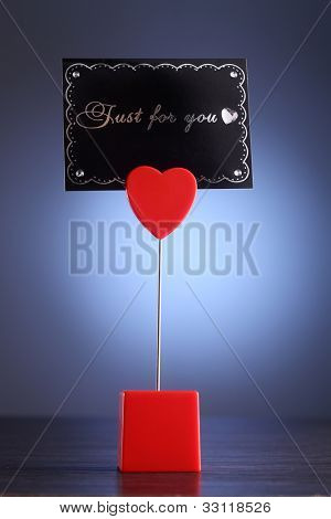 message holder with message just for you