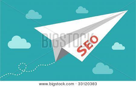 Seo - search engine optimization plane