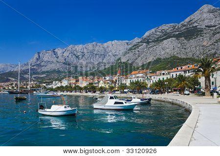 Town Makarska In Croatia
