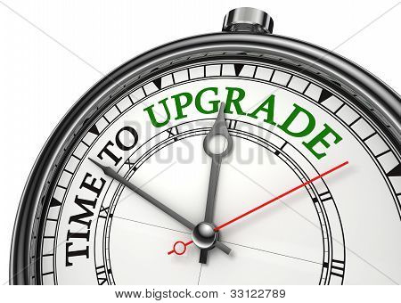 Time To Upgrade Concept Clock