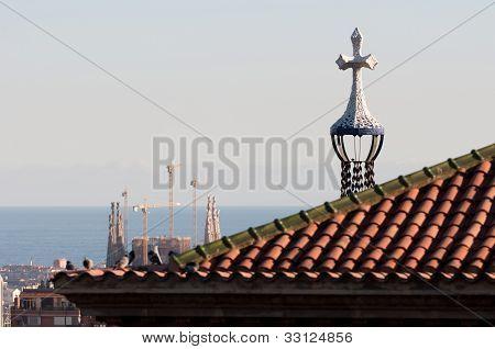 Barcelona roofs, Spain.