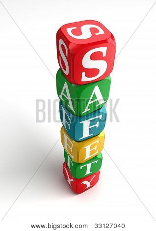 Safety Sign 3D Colorful Box Tower