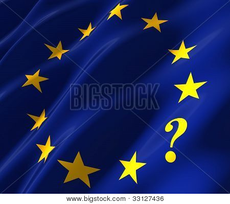 Eu Flag With Questionmark