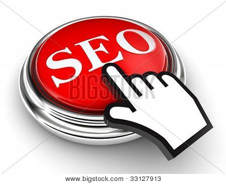 Seo Red Button And Pointer Hand