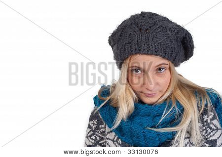 Sweet Blond Girl Portrait