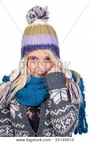 Sweet Blond Girl Portrait