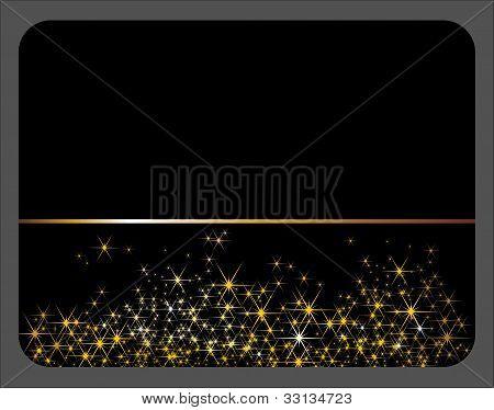 black festive card