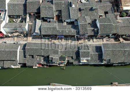 Chinese Village From Top