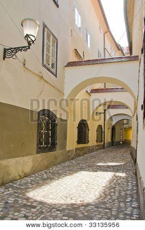 Ljubljana, Slovenia - alley in old town