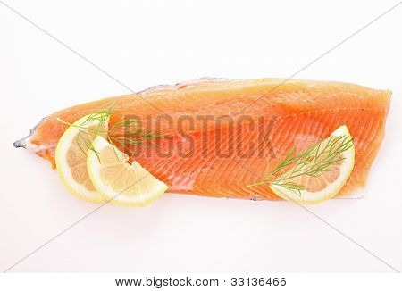 filet trout isolated