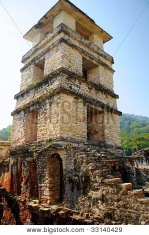 Palenque Palace Four-story Tower, Mexico