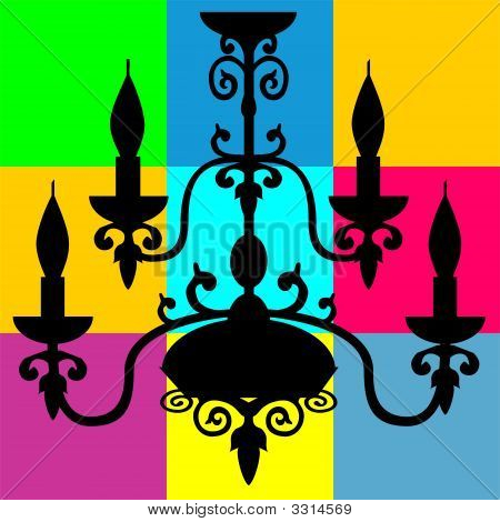 Silhouette Of Decorated Chandelier