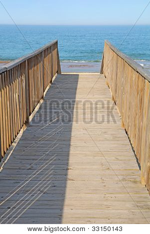 Walkway To A Public Beach Access Vertical